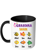 This Nana Grandma Shark Belongs to Personalized Colorful Coffee Mug Print Both Sides - Limited Edition up to 18 Kids