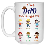 This Dad Belongs to Personalized Coffee Mugs High Quality