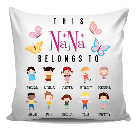 This Nana Belongs to Personalized Pillow Cover New Edition