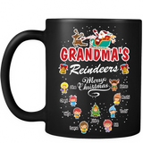 Grandma's Reindeers Personalized Ceramic Coffee Mugs Christmas Special Edition