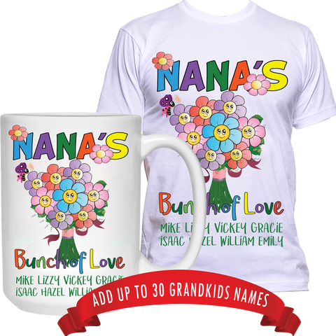 Bunch of Love T-Shirt and High Quality Ceramic Coffee Mug Both Sides Print ***Bundle Offer***