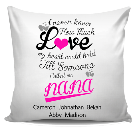 I Never Knew How Much Love My Heart Could Hold Personalized Pillow Cover