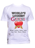 World's Luckiest Grandma Nana Personalized T-Shirts Hoodies Special Edition ***On Sale Today Only***