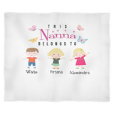 This Nana Belongs to Personalized Fleece Blanket