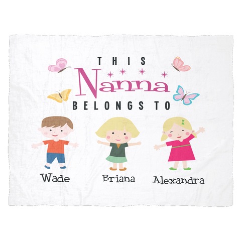 this nana belongs to personalized fleece blanket cool t shirts for