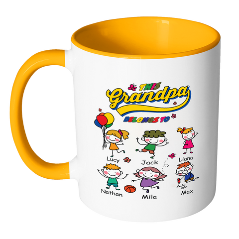 This Grandpa Belongs to Colorful Coffee MUG - Limited Edition