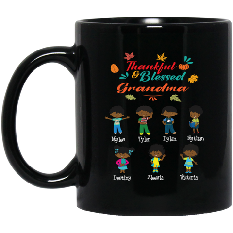 Thankful & Blessed Grandma's Personalized Mug