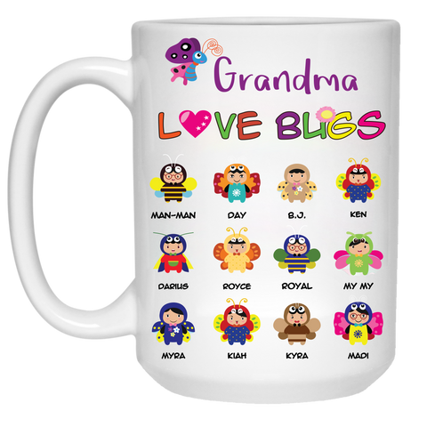 Nana Love Bugs High Quality Ceramic Coffee Mug Both Sides Print