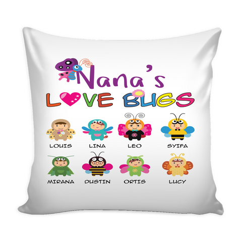 Nana Love Bugs Pillow Cover