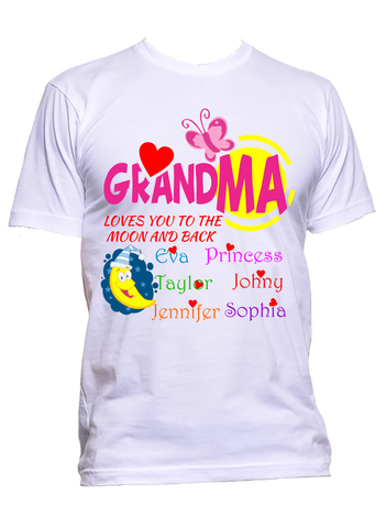Grandma Loves you to the moon and back Personalized T-Shirts Hoodies Sale 70% Off Special Price On Sale Today Only