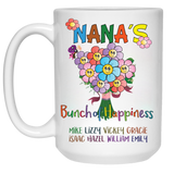 Bunch of Happiness Ceramic Coffee Mug Both Sides Print