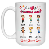We Love You Grandpa Grandma Nana Personalized Ceramic Coffee Mugs Special Edition