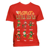 Grandma Nana Little Elves Personalized Hoodies Christmas Special Edition
