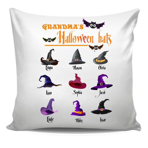 Nana Grandpa Halloween Hats Halloween Special Personalized Pillow Cover
