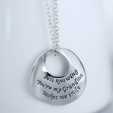 Grandma Letter Pendant Necklaces jewelry For best gift Grandma necklace Mother's day pendant necklace best gifts