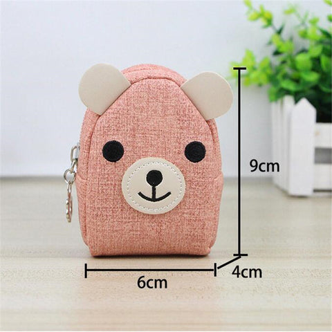 Animals Girls Small Mini Coin Purse Keychains Change Wallet Purse Backpack Women Key Holder Wallet Coin Bag Children Kids Gifts