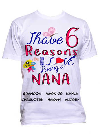 Reasons I Love Being a GrandMa, Nana, GiGi, MiMi T-Shirts Hoodies ***On Sale Today Only***