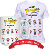 This Cool Daddy Grandpa belongs to T-Shirt and High Quality Ceramic Coffee Mug Both Sides Print ***Bundle Offer***