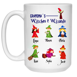 Wizards and Witches Personalized High  Quality Ceramic Coffee Mug Both Sides Print