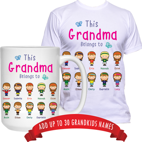 This Nana Belongs to T-Shirt and High Quality Ceramic Coffee Mug Both Sides Print ***Bundle Offer***