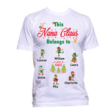 This Grandma Nana Poppy Belongs to Little Elves Personalized T-Shirts Christmas Special Edition Any Nickname up to 30 Kids