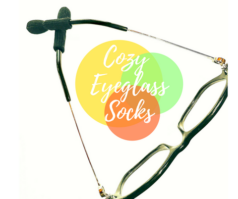 Cozy Eyeglass Socks.  The fix for uncomfortable glasses. Nose Pads are not the answer.