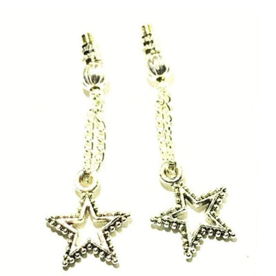 Pewter Star Charm for Bye-Bye Nose Dents Eyeglass Jewelry