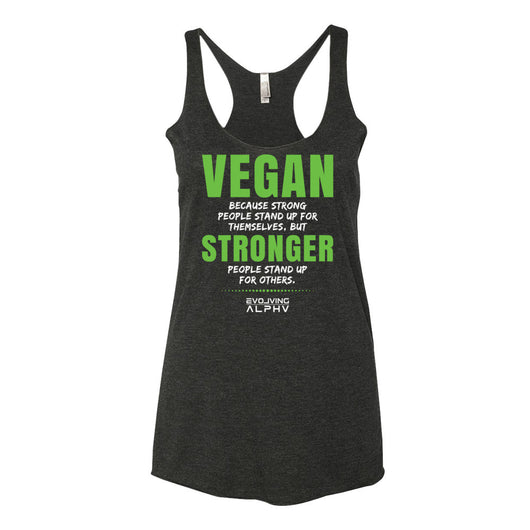 STRONGER Women's Racerback Tank Top (9 colors available)