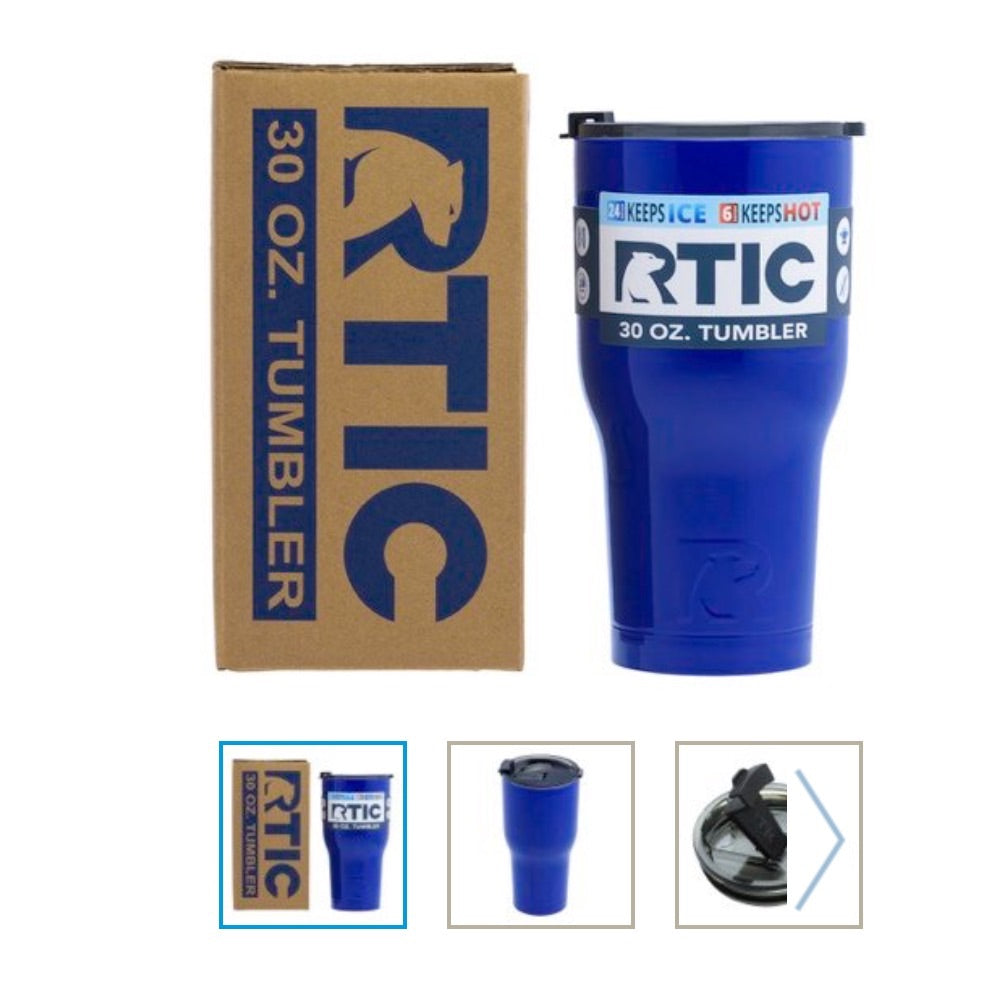 Electric Blue 30oz RTIC Tumbler
