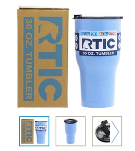 Carolina Blue 30oz RTIC Tumbler