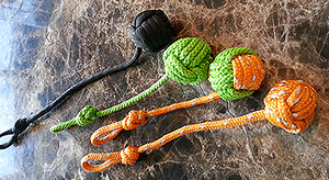 Small Monkey Fist Key Chain