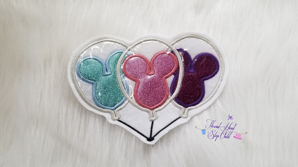 Happiest Place - Balloon Triple Embroidery Applique Design
