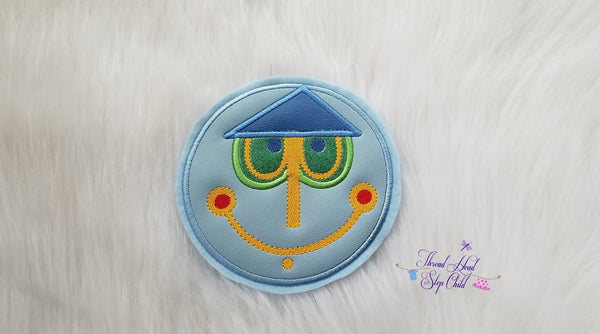 Happiest Place - Clock Face Embroidery Applique Design
