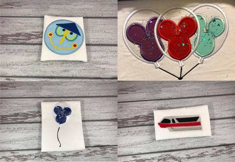 Happiest Place - Embroidery Applique Design Set