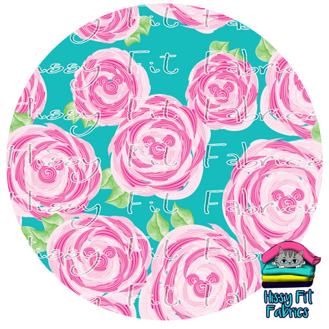 Vacation Mode - Roses Pink - Vinyl -  DO NOT COMBINE WITH FABRIC ORDERS