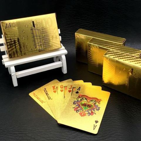 24K Carat Gold Playing Cards