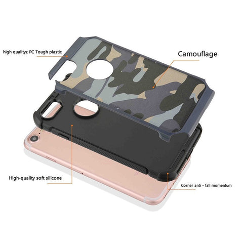 2 in 1 Army Camouflage protective phone case for iPhone