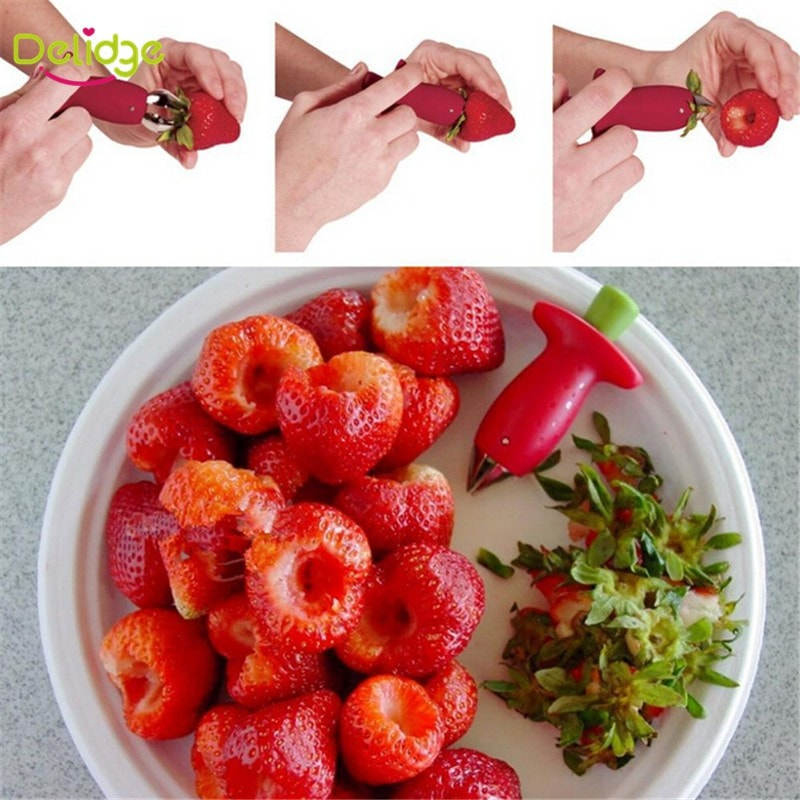 Strawberry Hullers Metal +Plastic Fruit Remove