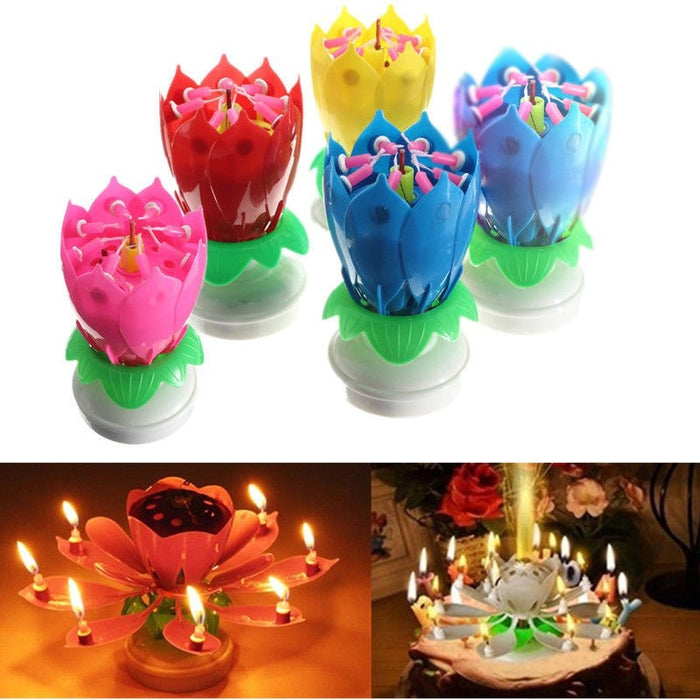 Amazing Musical Flower Birthday Candles