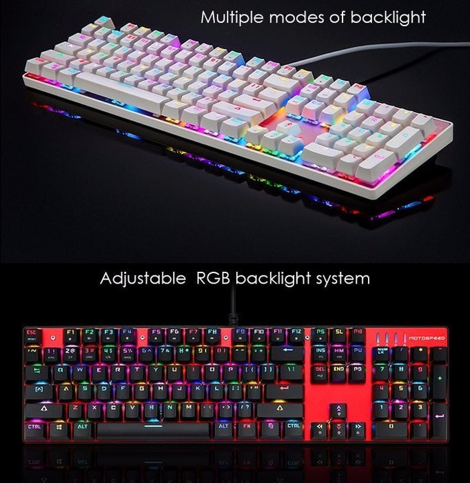 100% Original Motospeed Mechanical Keyboard with Switch Backlight and Anti Ghosting Function
