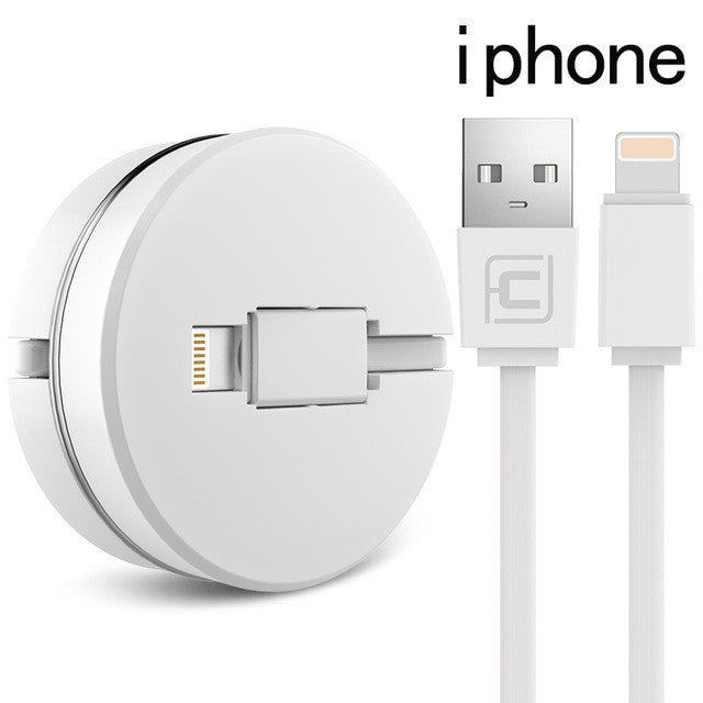 2 in 1 - Stretchable Charging Cable for iPhone / Android