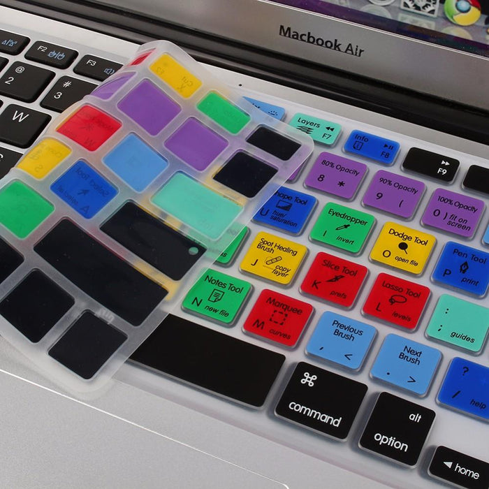 Photoshop Keyboard Cover For Macbook Pro Air 13 15 17