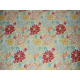Large Floral Print Fabric Red Yellow Blue Green Orange - Simply Chic Gal