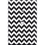 Black Chevron Pattern Cable Jack Cover- Handmade Home Decor - Simply Chic Gal