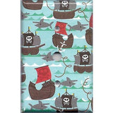 Cable Jack Cover in Pirate Ships and Sharks Boys Room Handmade- Simply Chic Gal