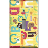 Back to School Alphabet Classroom Decor Single Light Switch Cover Hand Made Teacher Gift