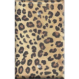 Single Blank Cover in Leopard Spots Animal Print African Decor