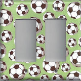 Soccer Ball/Balls Sports Theme Kids Room Light Switch Covers Wall Outlet Covers - Simply Chic Gal