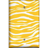 Single Blank Cover in Lemon Yellow & White Zebra Animal Print Handmade- Simply Chic Gal