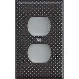 Black and White Tiny Polka Dots Wall Outlet Cover- Handmade Home Decor - Simply Chic Gal